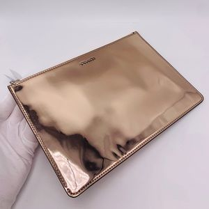Coach Bags - NWT Coach Mirror/Metallic Rose Gold Flat Clutch